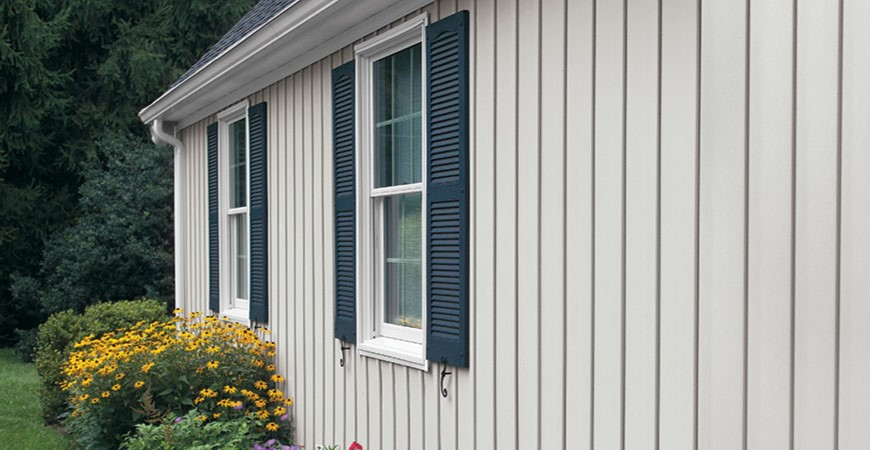 Board and Batten Siding runs up and down or Vertically