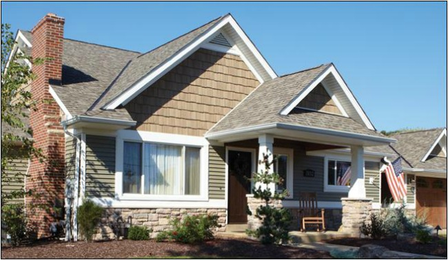 Beautiful design vinyl shakes siding