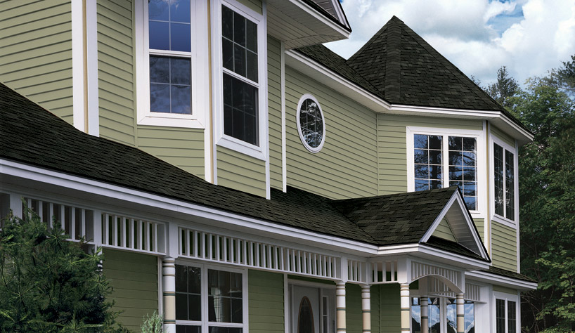 Vinyl siding styles using different profiles textures for Cypress color vinyl siding