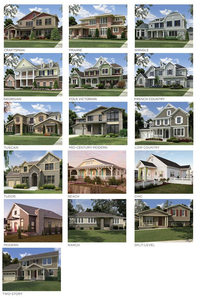 Vinyl siding styles using different profiles textures for Types of split level homes